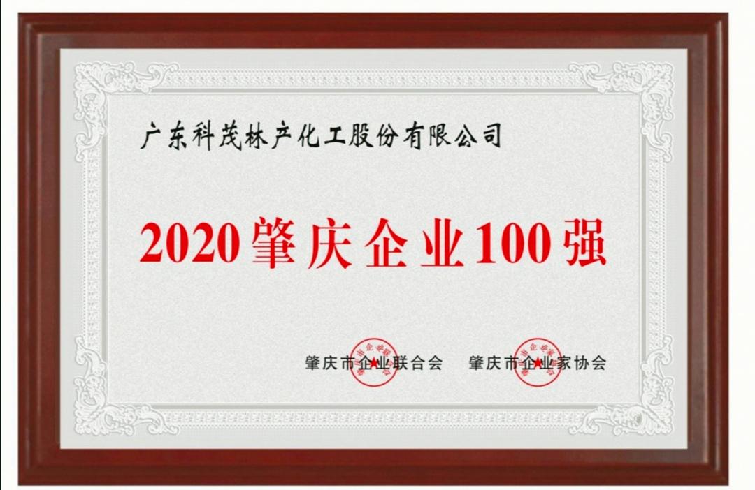 """广东万博mantex手机荣获""""肇庆企业100强""""荣誉称号"""